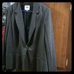 Old Navy Charcoal Gray One-Button Blazer